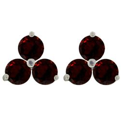 ALARRI 1.5 Carat 14K Solid White Gold Whatever It Takes Garnet Earrings