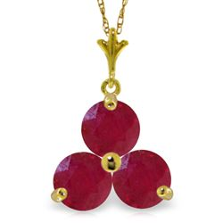 ALARRI 0.75 CTW 14K Solid Gold Heartbeat Ruby Necklace