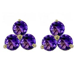 ALARRI 1.5 Carat 14K Solid Gold The Trees Undressed Amethyst Earrings