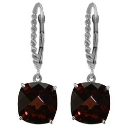 ALARRI 9 Carat 14K Solid White Gold Wings Of Love Garnet Earrings