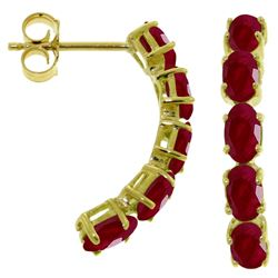 ALARRI 2.5 Carat 14K Solid Gold Earrings Natural Ruby