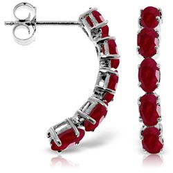 ALARRI 2.5 Carat 14K Solid White Gold Earrings Natural Ruby
