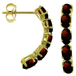 ALARRI 2.5 Carat 14K Solid Gold Earrings Natural Garnet