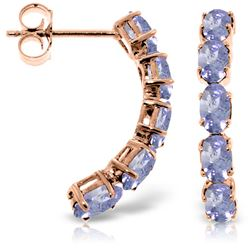 ALARRI 14K Solid Rose Gold Earrings w/ Natural Tanzanites