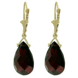 ALARRI 10.2 CTW 14K Solid Gold Wisdom Garnet Earrings