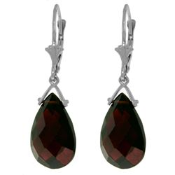 ALARRI 10.2 Carat 14K Solid White Gold Walking In Love Garnet Earrings
