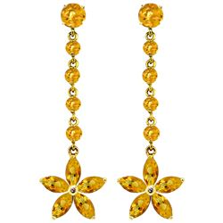 ALARRI 4.8 Carat 14K Solid Gold Stardrop Citrine Earrings