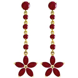 ALARRI 4.8 CTW 14K Solid Gold Chandelier Earrings Ruby
