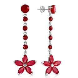 ALARRI 4.8 Carat 14K Solid White Gold Chandelier Earrings Ruby