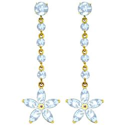 ALARRI 4.8 Carat 14K Solid Gold Stardrop Aquamarine Earrings