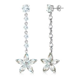 ALARRI 4.8 CTW 14K Solid White Gold Vanilla Passion Aquamarine Earrings