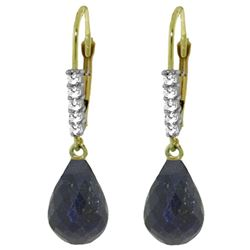 ALARRI 17.75 Carat 14K Solid Gold Helena Sapphire Diamond Earrings