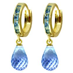 ALARRI 5.35 Carat 14K Solid Gold Olympia Blue Topaz Earrings