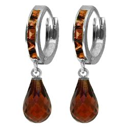 ALARRI 5.35 CTW 14K Solid White Gold Revamped Classic Garnet Earrings