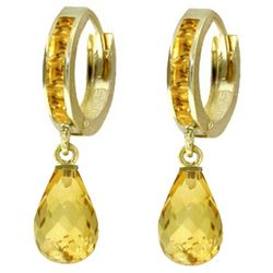ALARRI 5.35 Carat 14K Solid Gold Olympia Citrine Earrings
