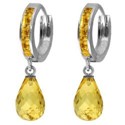 ALARRI 5.35 Carat 14K Solid White Gold Old Is New Citrine Earrings
