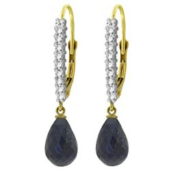 ALARRI 6.9 Carat 14K Solid Gold Louiseanne Sapphire Diamond Earrings