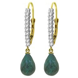 ALARRI 6.9 CTW 14K Solid Gold Louiseanne Emerald Diamond Earrings
