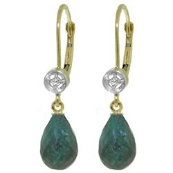ALARRI 6.63 Carat 14K Solid Gold Femme Emerald Diamond Earrings