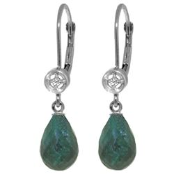 ALARRI 6.63 Carat 14K Solid White Gold I'm On Your Side Emerald Diamond Earrings