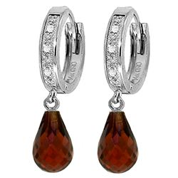 ALARRI 4.54 Carat 14K Solid White Gold Gamble On Love Garnet Diamond Earrings