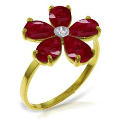 ALARRI 2.22 CTW 14K Solid Gold Fits Like A Glove Ruby Diamond Ring