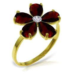 ALARRI 2.22 Carat 14K Solid Gold Citizen Of Love Garnet Diamond Ring