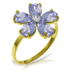ALARRI 2.22 Carat 14K Solid Gold A Thing Occurred Tanzanite Diamond Ring