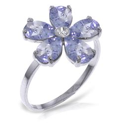 ALARRI 2.22 CTW 14K Solid White Gold Love w/ out Demands Tanzanite Diamond Ring