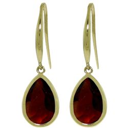 ALARRI 5 Carat 14K Solid Gold Unstoppable Garnet Earrings