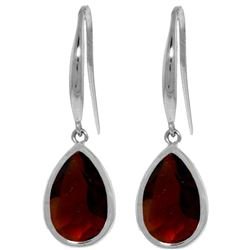 ALARRI 5 Carat 14K Solid White Gold Baby Breath Garnet Earrings