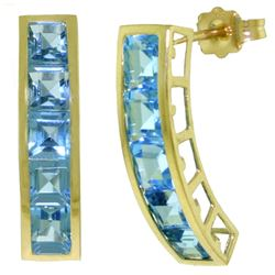 ALARRI 4.5 CTW 14K Solid Gold Valerie Blue Topaz Earrings