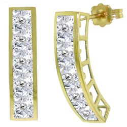 ALARRI 4.5 Carat 14K Solid Gold Earrings Natural White Topaz