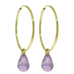 ALARRI 4.5 CTW 14K Solid Gold Margherita Amethyst Earrings