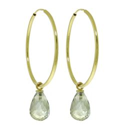 ALARRI 4.5 Carat 14K Solid Gold Margherita Green Amethyst Earrings
