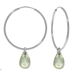 ALARRI 4.5 CTW 14K Solid White Gold Content Light Green Amethyst Earrings