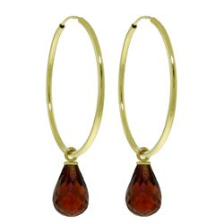 ALARRI 4.5 Carat 14K Solid Gold Margherita Garnet Earrings