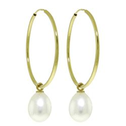 ALARRI 8 Carat 14K Solid Gold Margherita Pearl Earrings