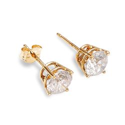 ALARRI 0.5 Carat 14K Solid Gold Stud Earrings 0.50 Carat Natural Diamond