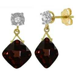 ALARRI 17.56 Carat 14K Solid Gold Welcome To My Life Garnet Earrings