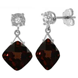 ALARRI 17.56 Carat 14K Solid White Gold Live Inside You Garnet Diamond Earrings