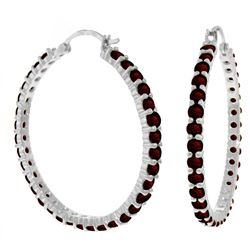 ALARRI 6 Carat 14K Solid White Gold Facts Persist Garnet Earrings