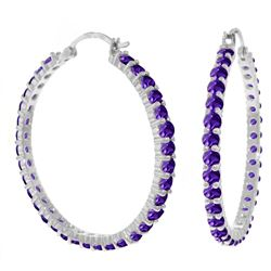 ALARRI 6 Carat 14K Solid White Gold Portia Amethyst Earrings