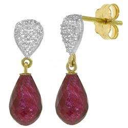 ALARRI 6.63 Carat 14K Solid Gold Splendid Ruby Diamond Earrings