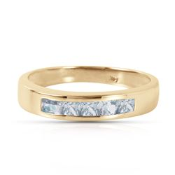 ALARRI 0.5 Carat 14K Solid Gold Knocking On Your Door Aquamarine Ring