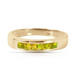 ALARRI 0.6 CTW 14K Solid Gold Somewhere Inside Me Peridot Ring