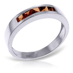 ALARRI 0.6 Carat 14K Solid White Gold Gloria Garnet Ring