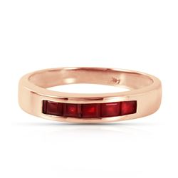 ALARRI 14K Solid Rose Gold Rings w/ Natural Rubies