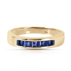 ALARRI 0.6 Carat 14K Solid Gold Bashful Meeting Sapphire Ring