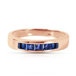 ALARRI 14K Solid Rose Gold Rings w/ Natural Sapphires
